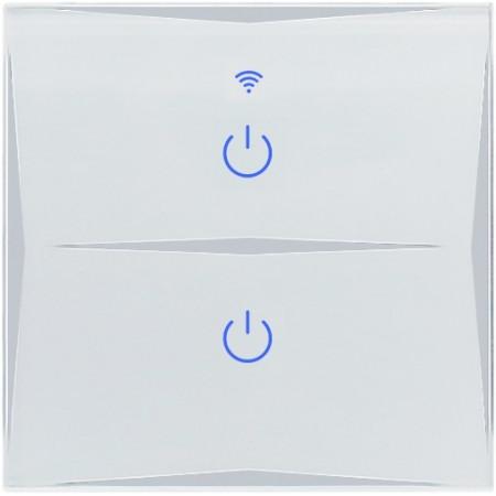 Умный Wi-Fi выключатель, сенсорный двухканальный Ya-T2
