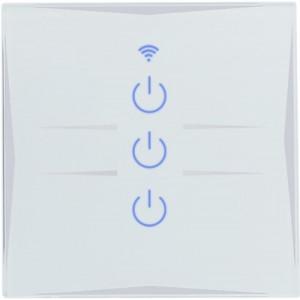 Умный Wi-Fi выключатель, сенсорный трехканальный Ya-T3