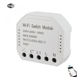 Умный Wi-Fi микромодуль реле одноканальное Ya-S03-reset (для кнопочных выключателей)