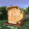 Баня-бочка квадратная (квадро бочка) из кедра 5 метров