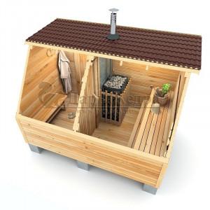 Каркасно-щитовая баня из кедра «Мини»