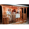 Каркасно-щитовая баня из кедра «Мини» с верандой
