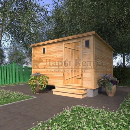 Каркасно-щитовая баня из кедра «Стандарт»