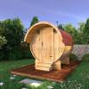 Баня-бочка круглая из кедра 2 метра