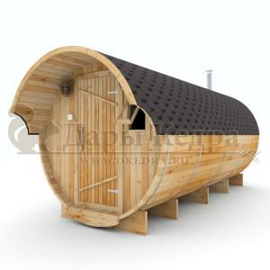 Баня-бочка круглая из кедра, 5 метров